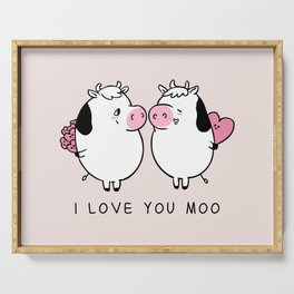 I Love You Moo Serving Tray