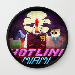 Hotline Hexels - Hotline Miami Wall Clock
