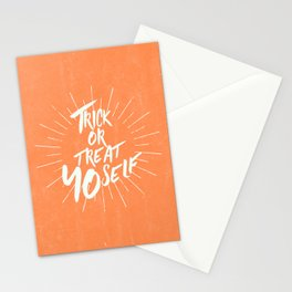 Trick or Treat Yo Self Stationery Cards