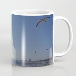 Kites over St. Kilda Beach Coffee Mug