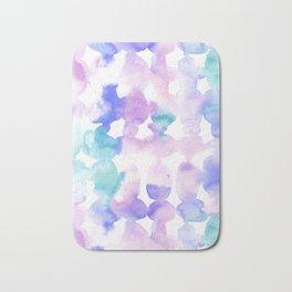 Dye Ovals Pink Turquoise Bath Mat