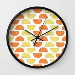 Orange Slices Pattern Wall Clock