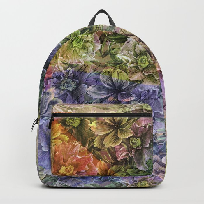 Floral painterly pattern Backpack