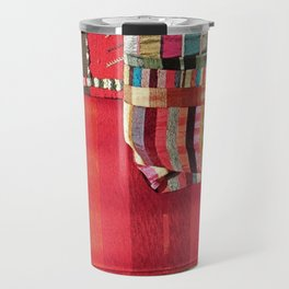 V27 Multi Colored Traditional Moroccan Lovely Textile Texture. Travel Mug