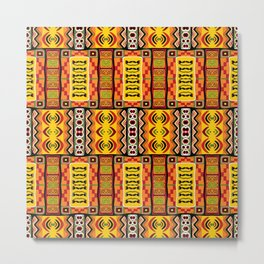 Ethnic African Inspired Pattern Metal Print