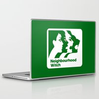 the neighbourhood Laptop & iPad Skins featuring Neighbourhood Witch by Crank Institute