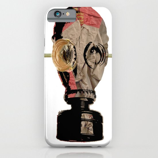 Eat more beef! Gas Mask Collage iPhone & iPod Case