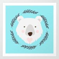 polar bear Art Prints featuring polar bear by Taranta Babu