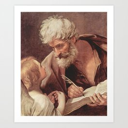 Guido Reni - Saint Matthew the Evangelist and an Angel Art Print