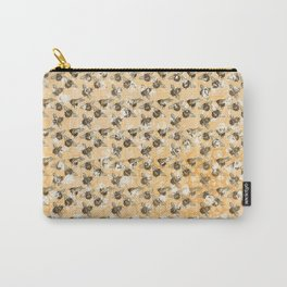 Bees and Blooms:  Watercolor illustrated honeybee print Carry-All Pouch