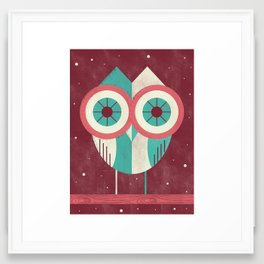 Owl in Distress Framed Art Print