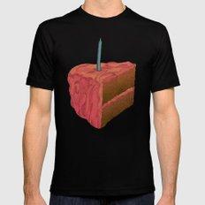 Happy Birthday (Pink)  Mens Fitted Tee MEDIUM Black