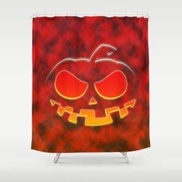 Screaming Pumpkin Shower Curtain
