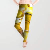 yellow Leggings featuring Yellow by Claudia McBain