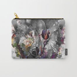 floral wolf 3 Carry-All Pouch