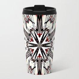 Red And Black Helping Hands Mandala Travel Mug