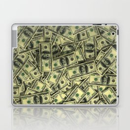100 dollar cash get rich Laptop & iPad Skin