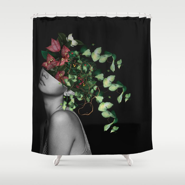 Lady Flowers X Shower Curtain
