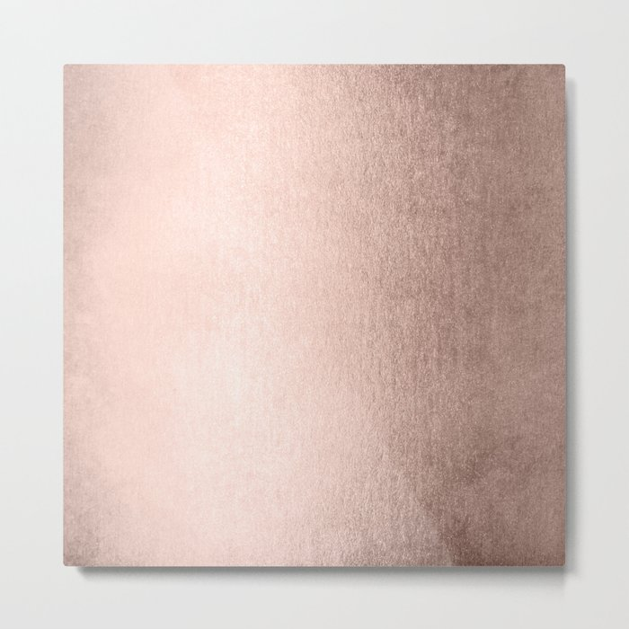 Moon Dust Rose Gold Metal Print