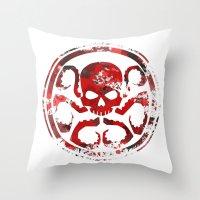 hydra Throw Pillows featuring HYDRA by Trey Crim