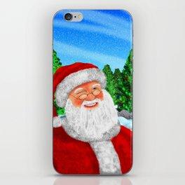 Winking Santa iPhone Skin