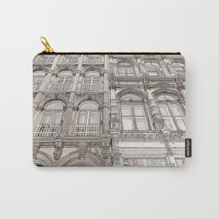 Facades - line art Carry-All Pouch
