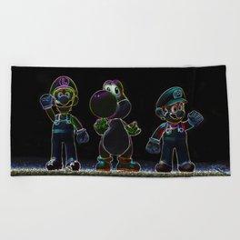 Luigi, Yoschi and Mario Beach Towel
