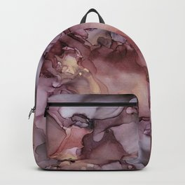 Ink Swirls Painting Lavender Plum Gold Flow Backpack