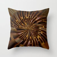 labyrinth Throw Pillows featuring Labyrinth by Syella