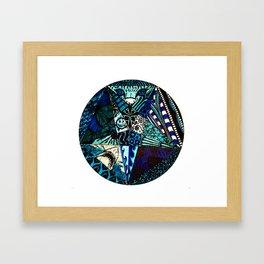 Blue Toned Pentagram Framed Art Print