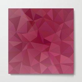 Maroon triangle tiles Metal Print