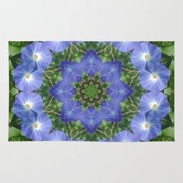 Heavenly Blue Morning Glory mandala 1057 Rug