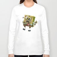 spongebob Long Sleeve T-shirts featuring SpongeBob SquarePants by Tayfun Sezer
