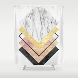 Modern geometric art XIX Shower Curtain