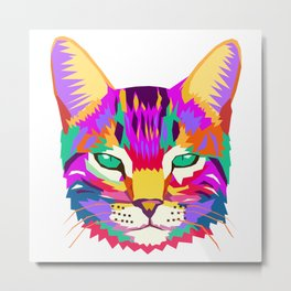 art cat Metal Print