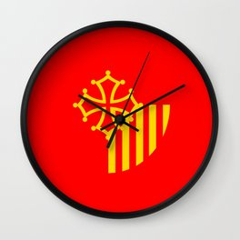 Languedoc Roussillon france country region flag Wall Clock