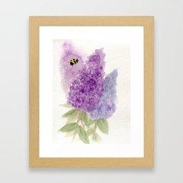 Watercolor Lilacs Spring Garden Flowers Framed Art Print