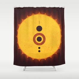 Sol System - The Milky Way Shower Curtain