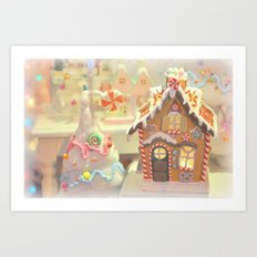 Gingerbread Days Art Print