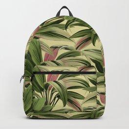 Cordyline Princess Margaret Watercolor Cream Pattern Backpack