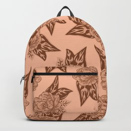 Cabbage Roses in Rust Backpack