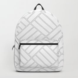 Checkered Grey Pattern | Squares | Rectangle | Cool Grey Backpack