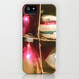 Christmas Cardboard Window #Christmas #vintage #society6 iPhone Case
