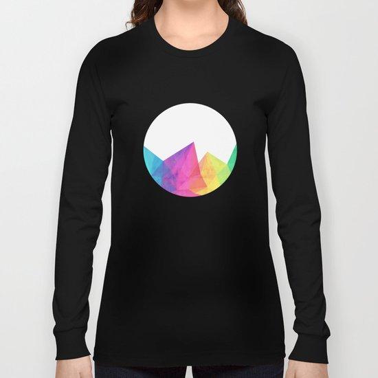 Fractal Rainbow Long Sleeve T-shirt