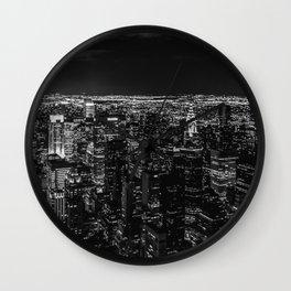 Manhattan. Black and white Wall Clock