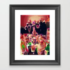 coctail party Framed Art Print
