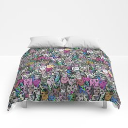 Gemstone Cats CYMK Comforters