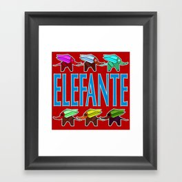 Elefante 2 Framed Art Print