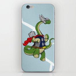 "Bronto""THOR""us - God of Thunder Lizards iPhone Skin"