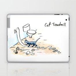 Comic Cat Treadmill Laptop & iPad Skin